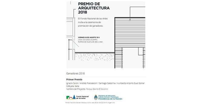 Premio Nacional de Arquitectura del Fondo Nacional de las Artes.